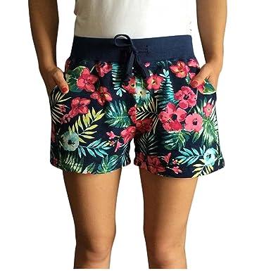 Crazycatz Womens Cotton Swim Shorts Swimming Beachwear Bottom With Pocket  and Drawstring (M US fb03086c5
