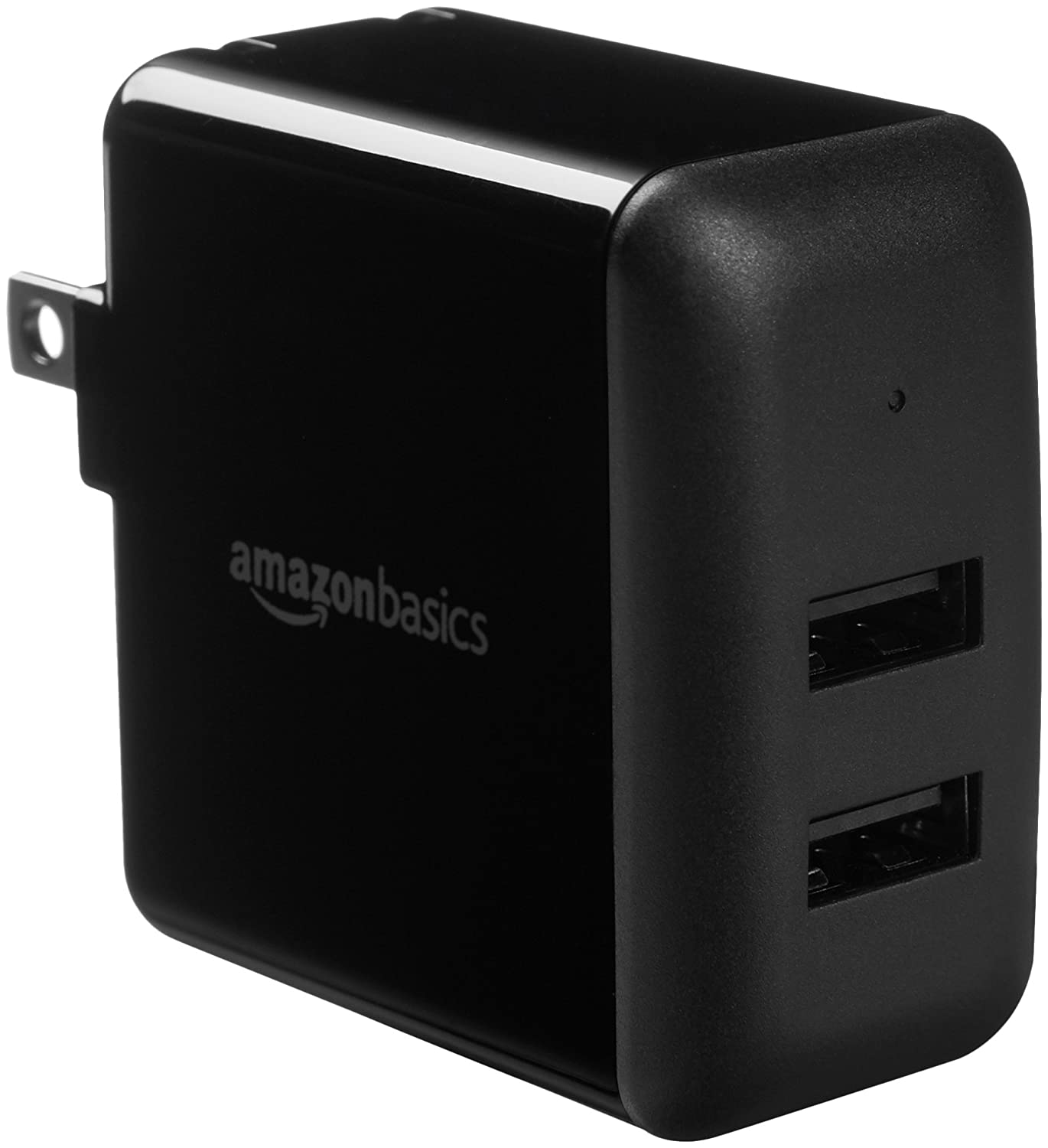 AmazonBasics Dual-Port USB Wall Charger (2.4 Amp) - Black