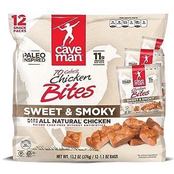 Amazon Caveman Sweet Smoky Chicken Bites 132 Oz 12 Bags 11