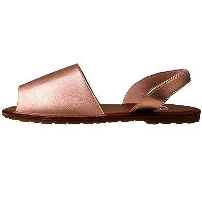 796640798 Ladies ELLA Glitter Slingback Flat Menorcan Open Toe Spanish Sandals Beach  Summer Sandals Shoes Size 3 - 8 (5 UK