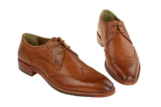 Gordon & Bros 3514-c Mid-brown, Chaussures à lacets et coupe classique homme - Marron - marron,