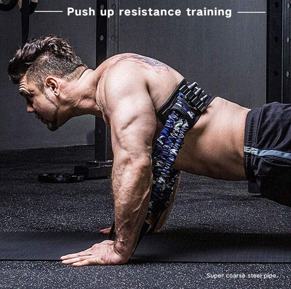 Bench Press Push Up Resistance Band Removable Chest Builder Arm Expander Fitness