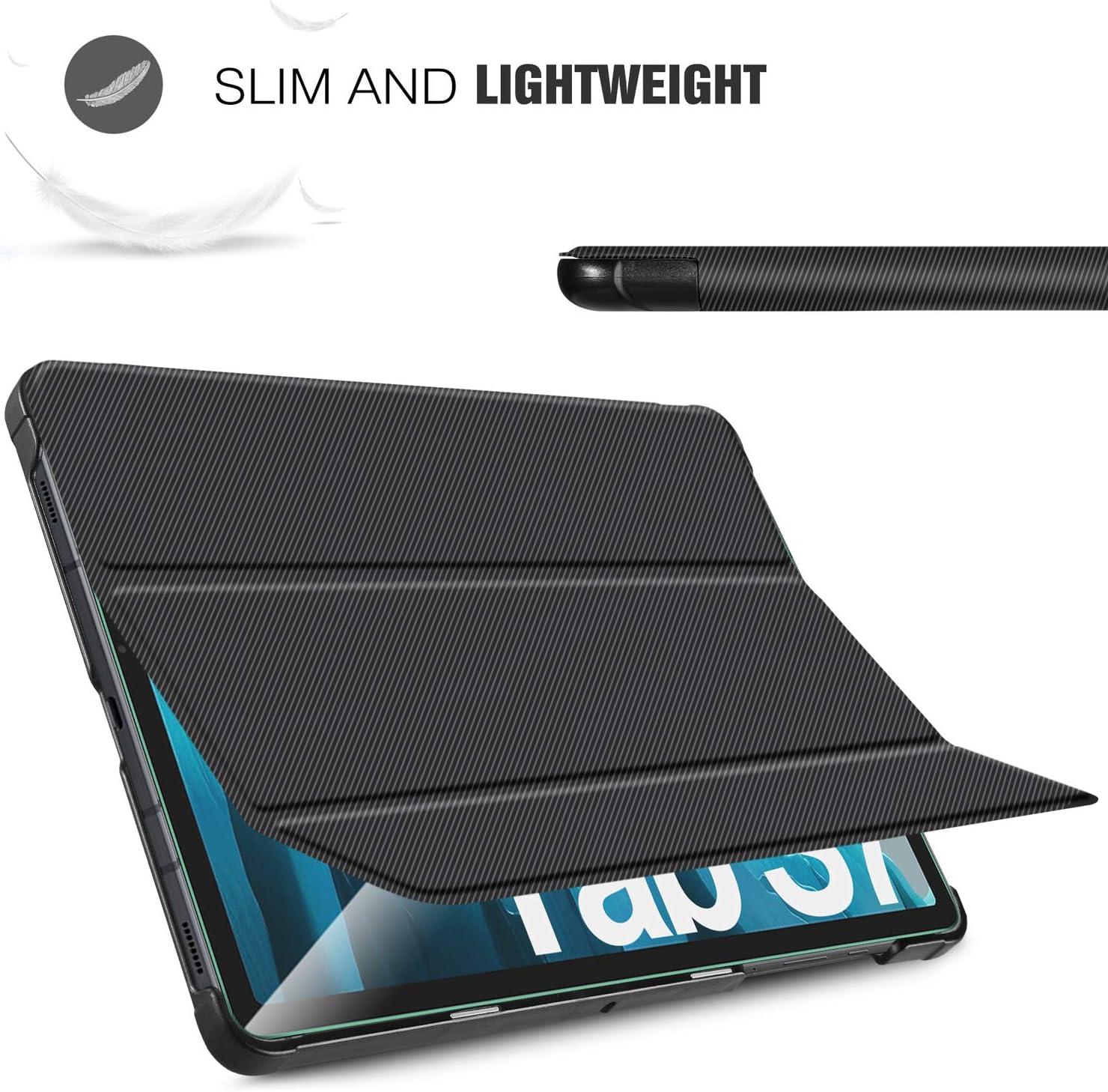 ELTD pour Samsung Galaxy Tab S7 Verre Tremp/é Film+ pour Samsung Galaxy Tab S7 Coque Etui Cover Housse Etui Coque SM-T870//875 , Noir + 1 Pack Verre Tremp/é Film pour Samsung Galaxy Tab S7 11