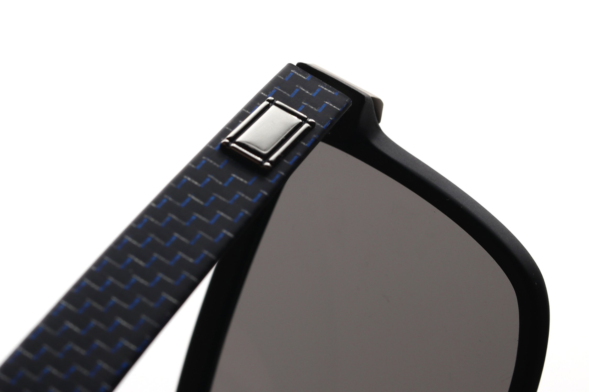 Mysandy Fiber Carbon Sunglasses for Men &Women UV400 Protection Square Sunglasses Fashion Outdoor Glasses Middle Size Ultra Light Black by Mysandy (Image #7)