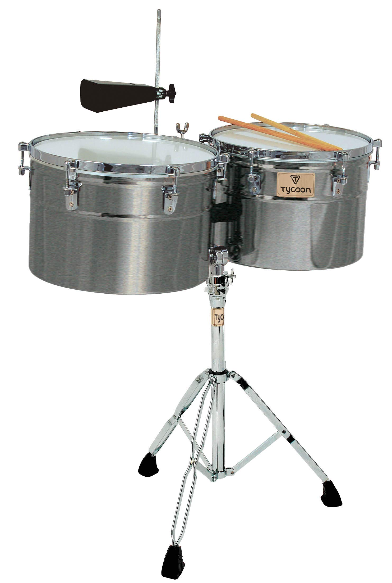 Tycoon Percussion Black Powder Coated Timbale Mambo Bell by Tycoon Percussion