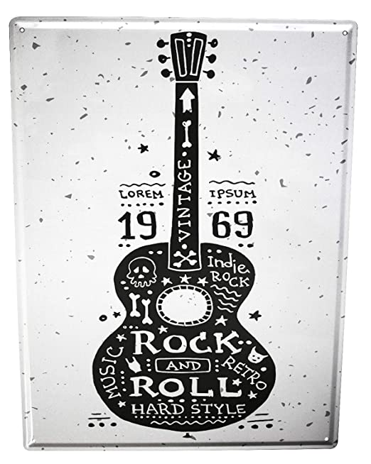 Cartel Letrero de Chapa Diversíon Rock and roll: Amazon.es ...