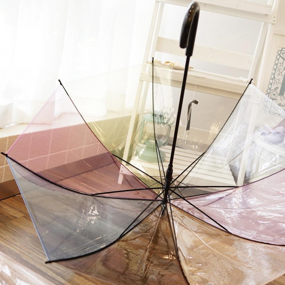 automatic umbrella Kaxima Transparent umbrella Rainbow umbrella hook umbrella Straight umbrella 58.5x100cm
