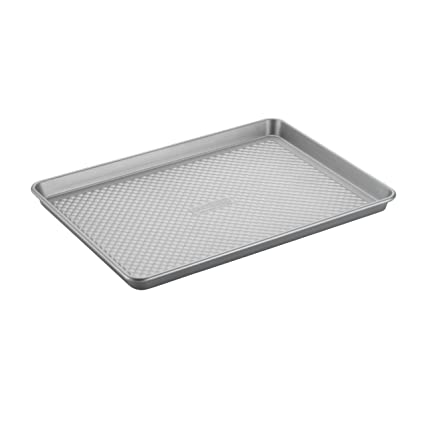Cake Boss Professional Nonstick Bakeware 13-Inch by 18-Inch Jelly Roll Pan, Silver