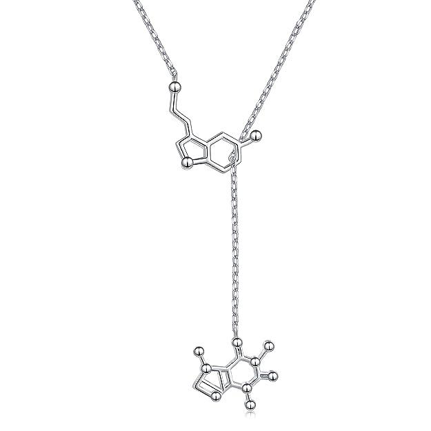 colgante cientifico moléculas serotonina y cafeína