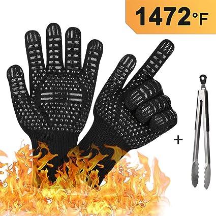 Amazon.com: Guantes para barbacoa de 1472 °F, resistentes al ...