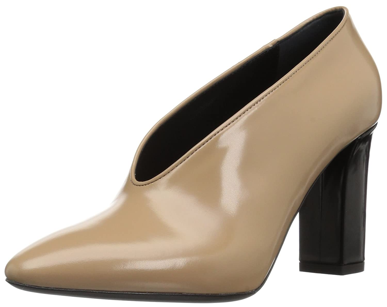 Via Spiga Women's Baran Block Heel Pump B06XGTV3VC 10.5 B(M) US|Desert Leather