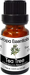 Europa Essentials 100% Pure Therapeutic Grade Essential Oils, 31 Aromatherapy Scents Collection – Tea Tree, 10ml