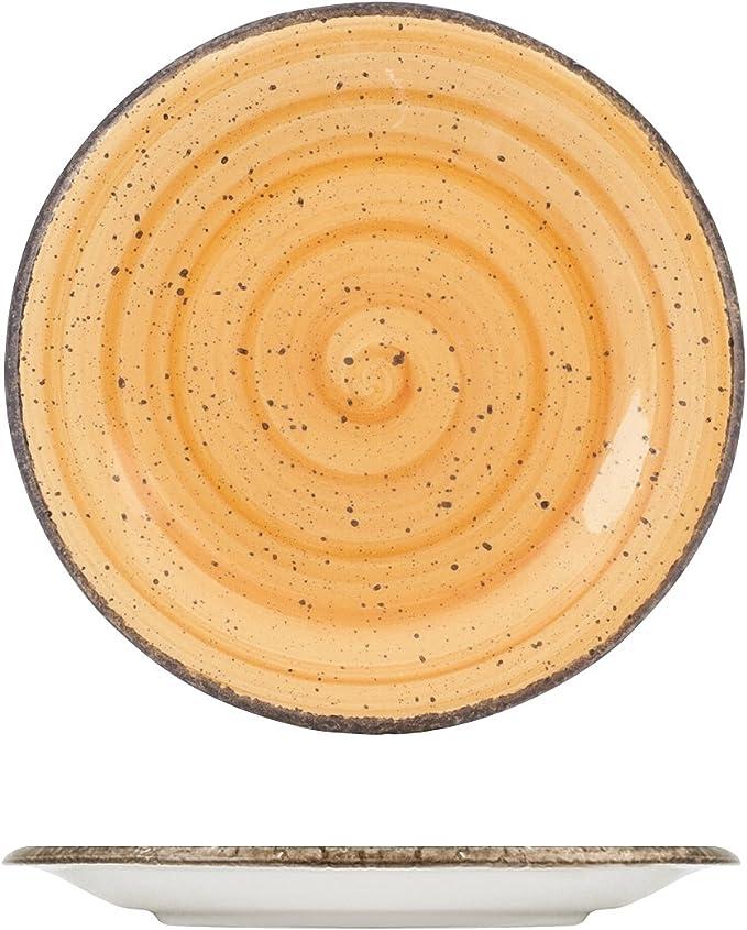 H/&H Giotto Piatto Frutta Ceramica Dipinto a Mano Azzurro 20 cm