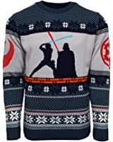 Numskull Official Star Wars Luke Vs Darth Christmas Jumper/Ugly Sweater