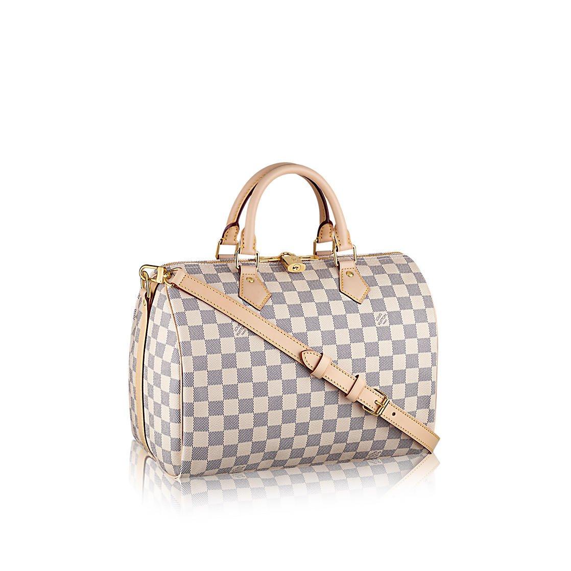 d31c5ea216 Amazon.com  Louis Vuitton Damier Azur Canvas Speedy Bandouliere 30 N41373   Shoes