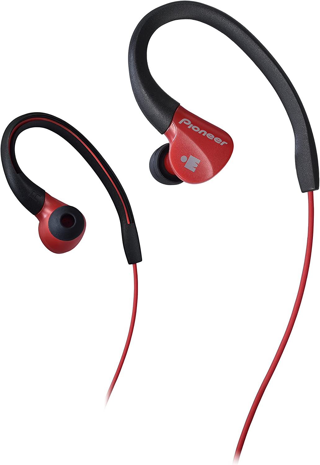 Pioneer Ironman Sweat-Resistant Sports Earphones, Red(SE-E3M(R)