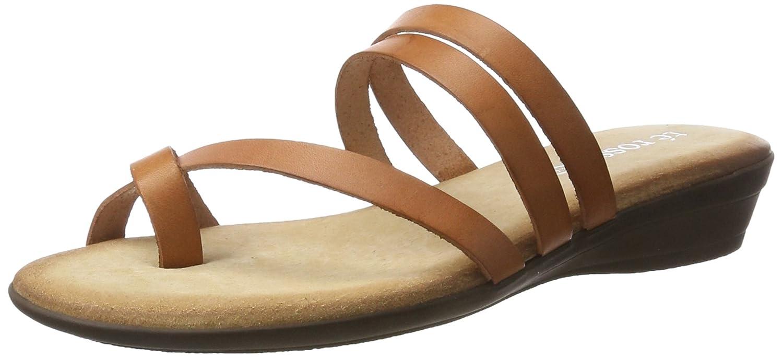 Té Rosso Sandalia Piel Planta Gel 160473 Cuero - Sandalias de Cuña Mujer 39 EU|Cuero