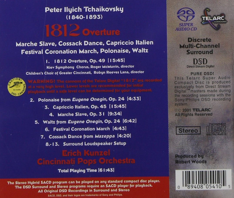 tchaikovsky 1812 new dsd recording by pyotr ilyich tchaikovsky tchaikovsky 1812 new dsd recording by pyotr ilyich tchaikovsky erich kunzel cincinnati pops orchestra amazon co uk music