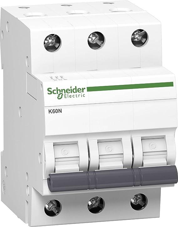 Wei/ß 10A Schneider A9K02310 Leitungsschutzschalter K60N 3P C Charakteristik 6kA
