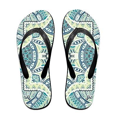 1aae01c7bd53 Wendex Abstract Tiles Men s Beach Flat Rubber Sandals Flip Flops