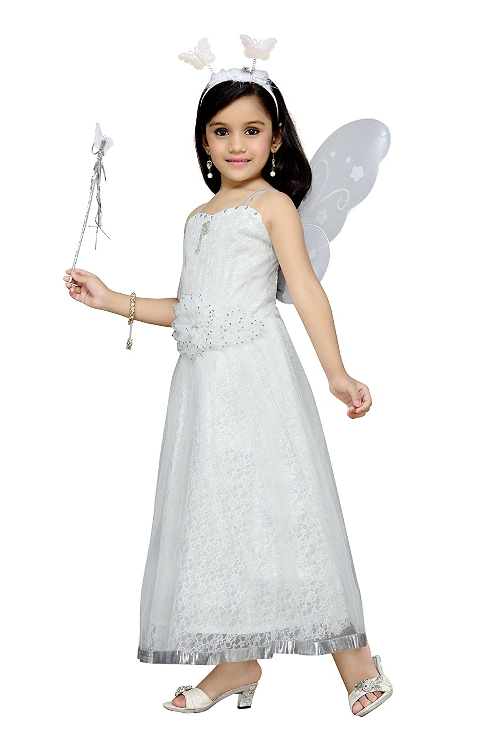 6676463a2ce83 Aarika Girl's Christmas Angel Gown with Butterfly Wings: Amazon.in:  Clothing & Accessories