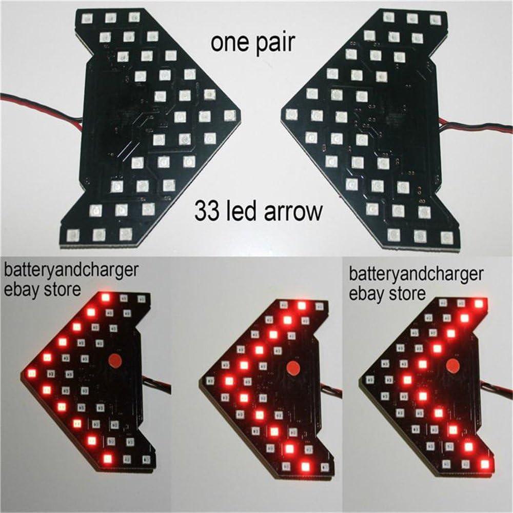 Lzcat 33 SMD secuencial luces LED flechas indicador de luz Panel LED seguro espejo retrovisor de coche se/ñal de giro 33 LED
