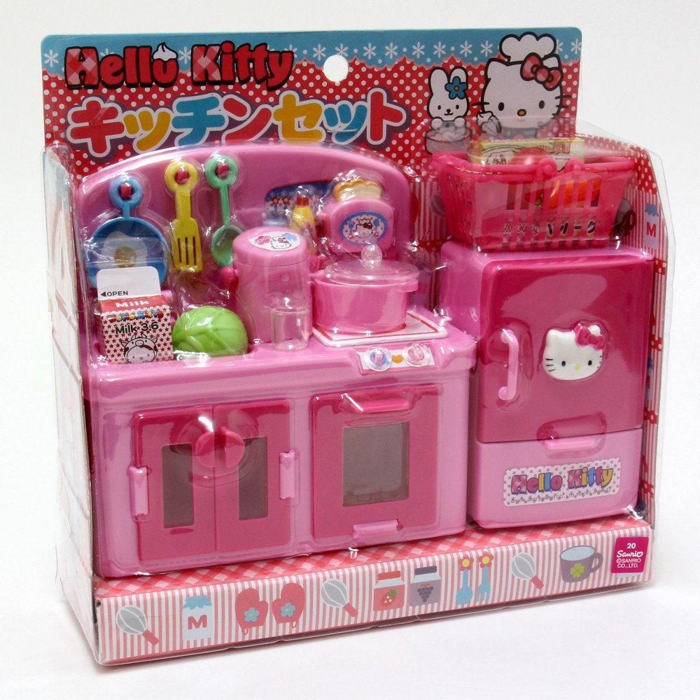 Hello Kitty Kitchen and Refrigerator Sets Sold Together - Everything Needed for Cooking Play by Hello Kitty (Image #4)