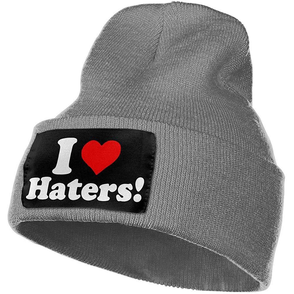 Mujeres y Hombres Que Amo Haters Sombreros de Gorro cálidos de ...