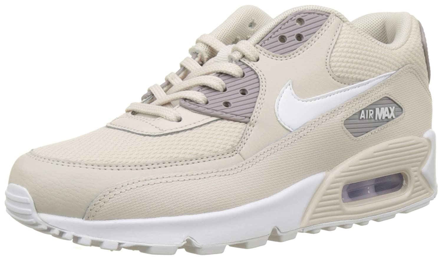 Nike Wmns Air Max 90 Damen Sneakers Beige (Desert Sand/White/Atmosphere Grey 054)