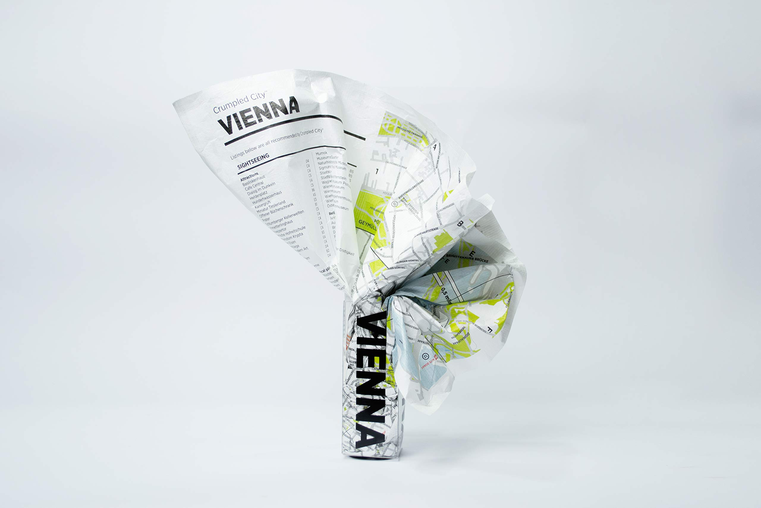 Crumpled City Map-Vienna: Palomar S.r.l.: 9788897487104 ...