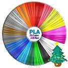 Aerb 20pcs 1.75mm PLA 3D Pen Filament Refills, 20 Colors, Total 328 Feet