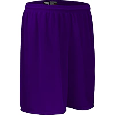 AM6475Y Youth Boy's and Girl's Solid Color Performance Nylon Mesh Sport Short