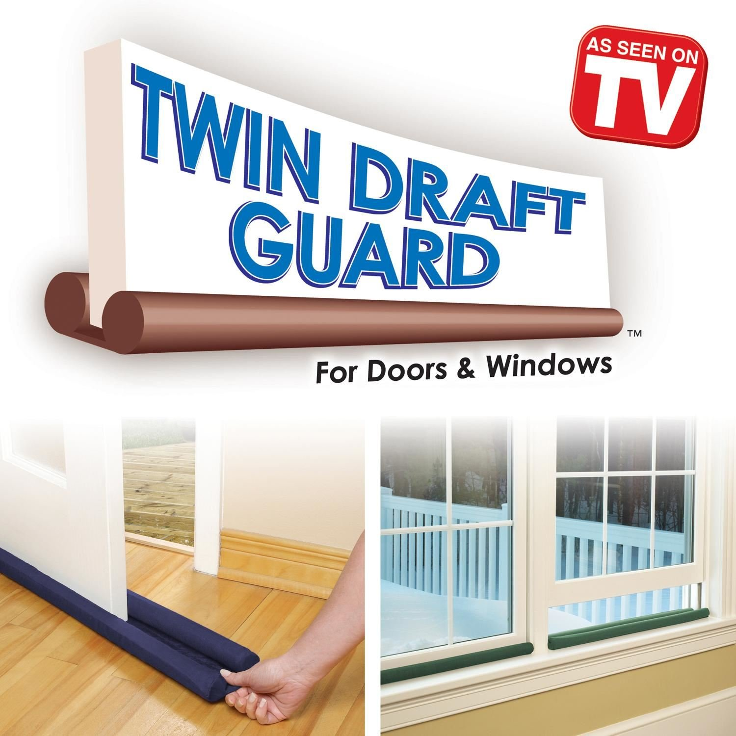 2 Pack Double Sided Twin Draft Guard Draught Excluder For Doors U0026 Windows:  Amazon.co.uk: DIY U0026 Tools