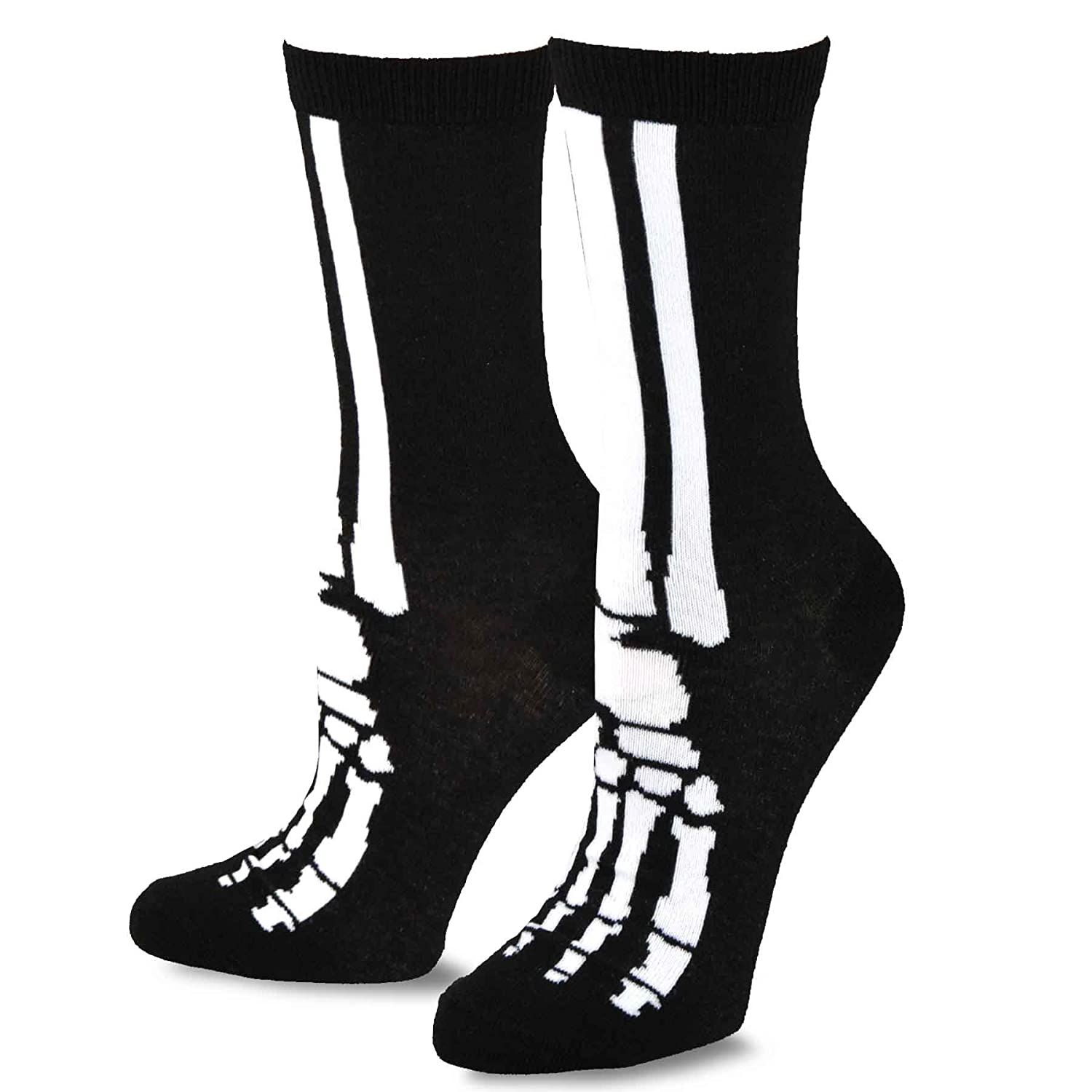 TeeHee Novelty Halloween Skelton Fun Socks Soxnet Inc