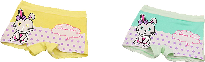 FAIRYRAIN Little Girls Kids Baby Toddler 4Pcs Rabbit Dots Boyshort Underwear Boxers Briefs Panties