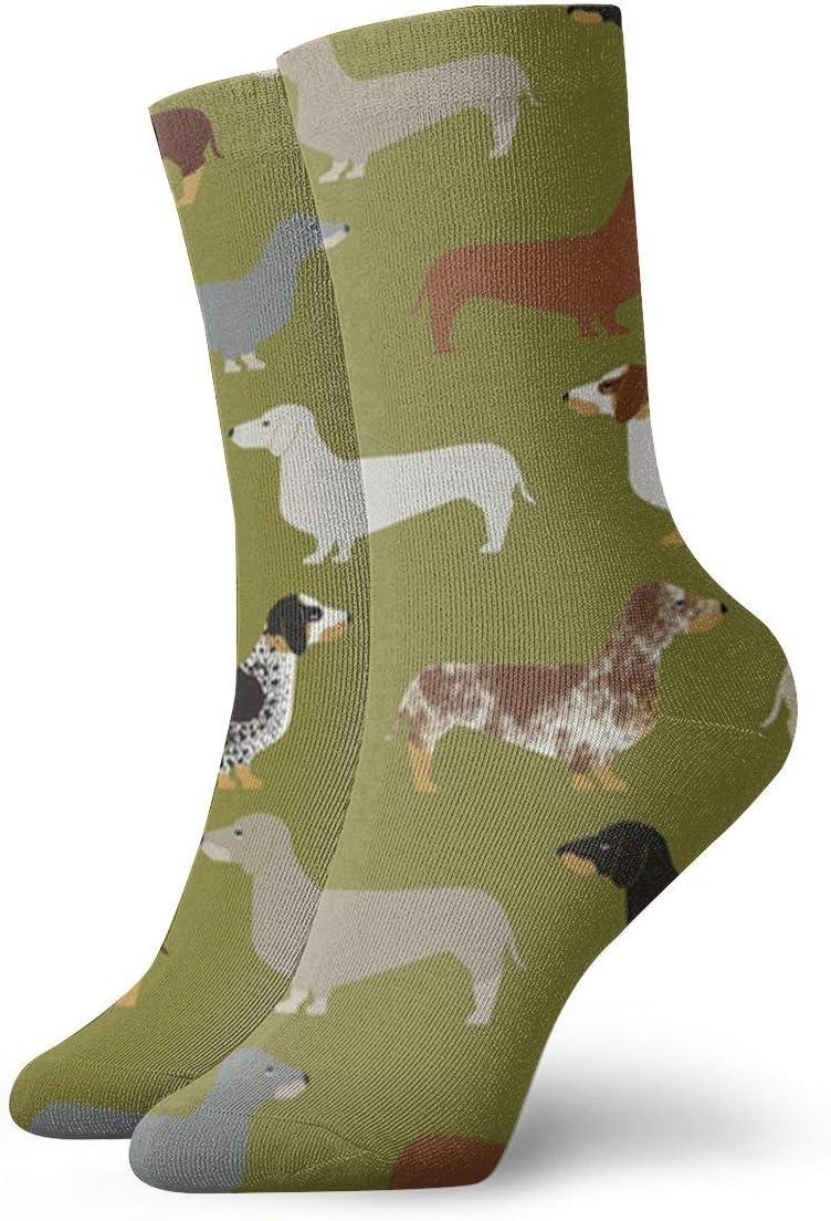 Jokerbilibili Doxie Dachshund Green Dogs Unisex Print Athletic Quarter//Ankle Running Hiking Socks-Weekend Lounge Short Crew Socks