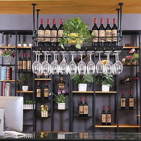 Estante para vinos Portavasos de Vino Barro casero de Hierro Forjado Estante de cáliz Rojo del