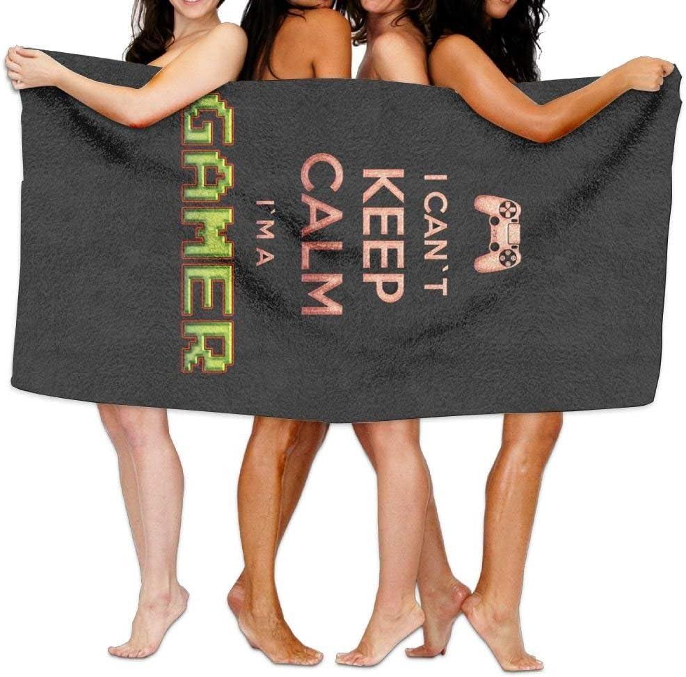 New Shorts Bath Towel Beach Towel I Can Not Keep Calm I Am A Gamer 80 X 130 Soft Lightweight Absorbent for Bath Swimming Pool Yoga Pilates Picnic Blanket Towels