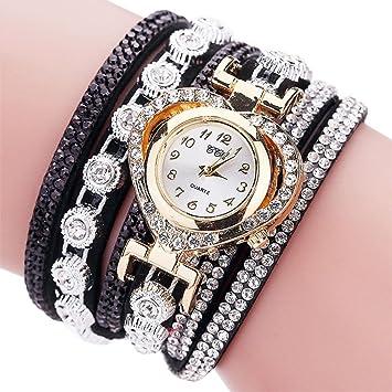 Reloj analógico para mujer de Sonnena, con correa de metal y pulsera con diamantes