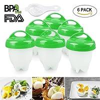 Egg Cooker - 6 pcs Egg Boiler, Hard Boiled Egg Cooker Maker without Shell (Green)
