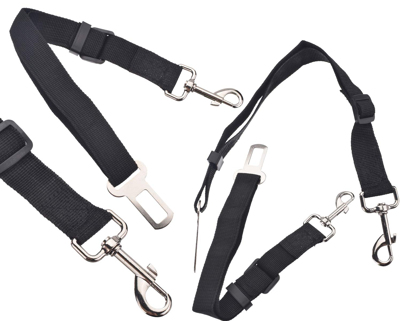 BisLinks Pet Perro Car Seat Belt Safety Veh/ículo Ajustable 42cm to 68cm Harnesses Lead Attachment Restraint Correa Clip Rojo