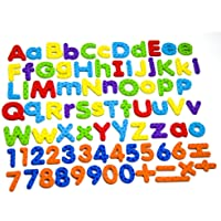 MAGTiMES Magnetic Letters and Numbers for Educating Kids in Fun -Educational Alphabet Refrigerator Magnets -112 Pieces…