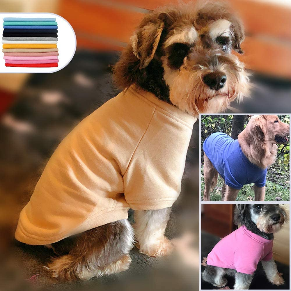 lovelonglong 2019 Dog Pullover Sweatshirt Autumn Winter Cold Weather Dog T-Shirts for Small Medium Large Size Dogs Husky Clothes Gray XXL