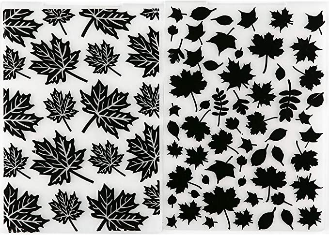 MaGuo Maple and Leaves Embossing Folders for DIY Scrapbooking Photo Album Card Making Decorative