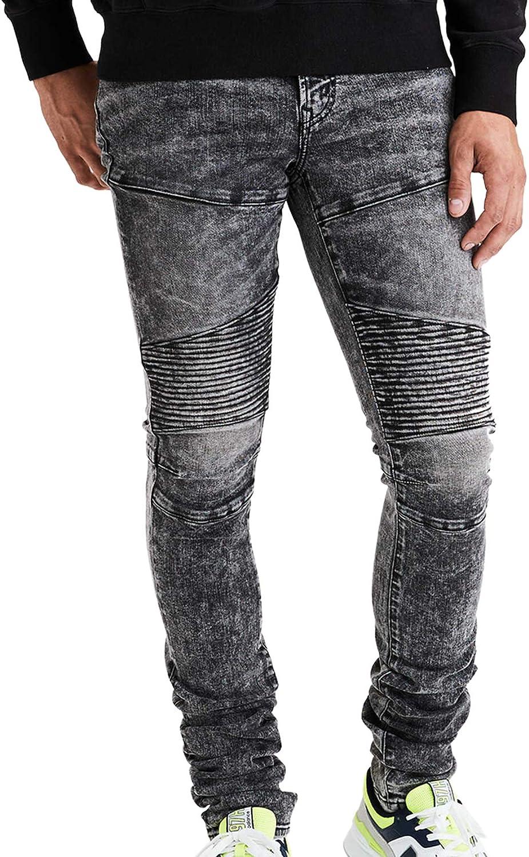 American Eagle Mens 5071095 Ne(x) t Level Stacked Skinny Jean, Black Acid Wash