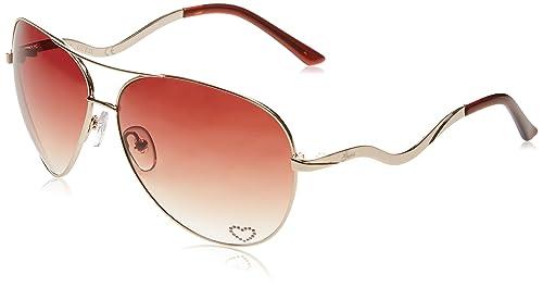 Guess GU7021, Gafas de Sol para Mujer, Dorado (Oro/Rosso), 63