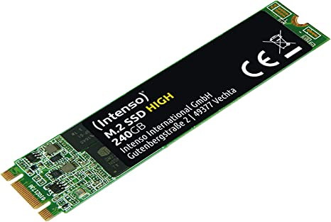 Intenso M.2 SSD SATA III High Performance 240 GB: Amazon.es ...