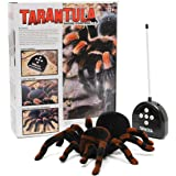 MECO Spider Scary Toy Remote Control 8'' 4CH RC Tarantula for Halloween, April-Fool's Day and Birthday Gift