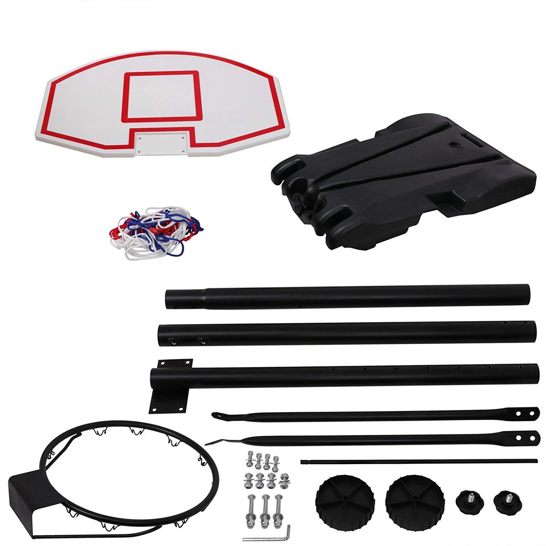 Nova Microdermabrasion Portable Basketball Hoop Stand Backboard System Adjustable-Height W/Wheels 5+ Years Kids Goal Indoor Outdoor 6.9ft (Black) by Nova Microdermabrasion (Image #9)