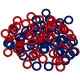 (100 Pack) Soft Stitch Ring Markers (Small size for needle sizes 0-8, Includes 2 colors, for knitting/crochet/etc)